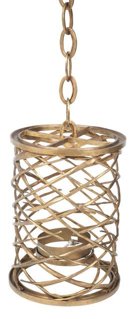 Hervé van der Straeten, 'Pair of Hervé van der Straeten Bronze Lustre Toubillon Hanging Lanterns, For Ralph Pucci', Design/Decorative Art, Pair of Bronze Lustre Toubillon Hanging Lanterns, Doyle