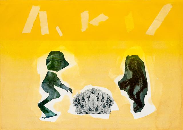 , 'yellow script,' 2016, VILTIN Gallery