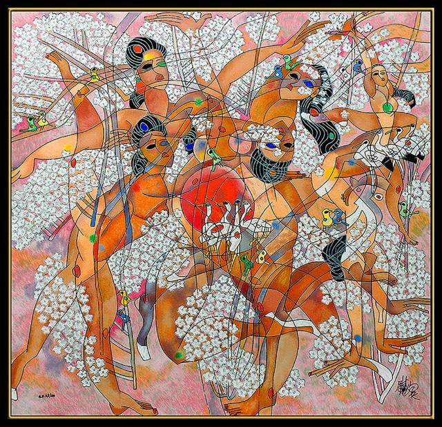 Jiang Tiefeng, 'Spring', 20th Century, Print, Color Serigraph, Original Art Broker