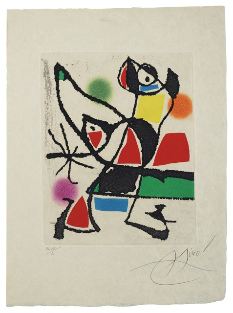 Joan Miró, 'Le Marteau sans maître: one plate (Dupin 946)', 1976, Sims Reed Gallery