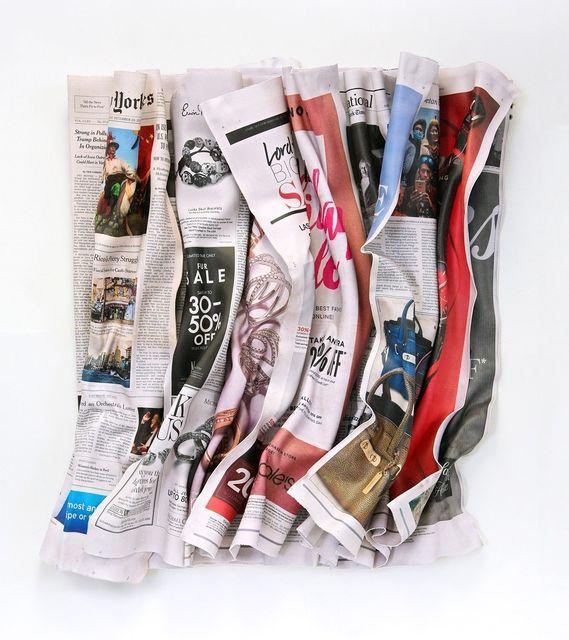, 'NY Times 12-20-15,' 2016, Galerie de Bellefeuille