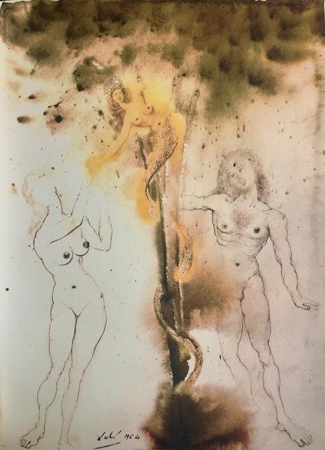 Salvador Dalí, 'Original Sin, 'Peccatum Originis', Biblia Sacra', 1967, Mixed Media, Original Lithograph, Inviere Gallery