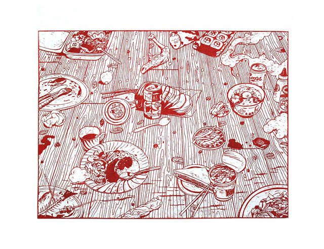 , 'Food Party,' 2014, Mark Moore Fine Art