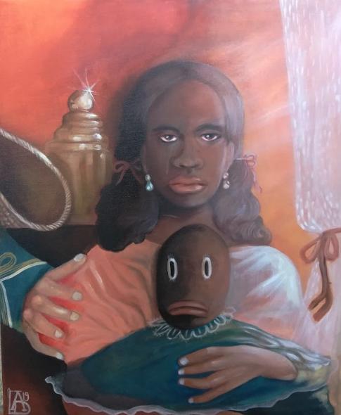 , 'Kept Black Girl (Pallor Tastes) ,' 2019, David Lusk Gallery
