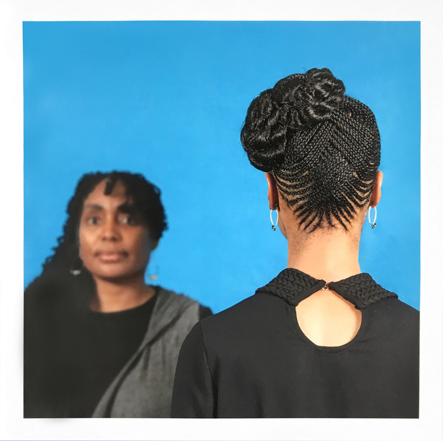 Sonya Clark, 'Hair Craft Project with Dionne', 2014, Print, Pigment print on archival paper, Goya Contemporary/Goya-Girl Press