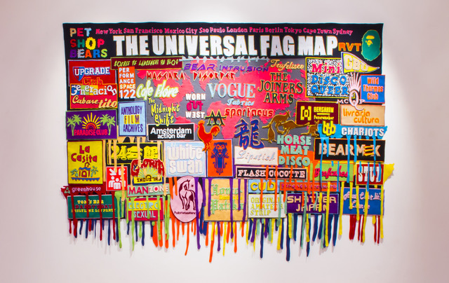 , 'The Universal Fag Map (I Search the World For You),' 2013, BRUNDYN +