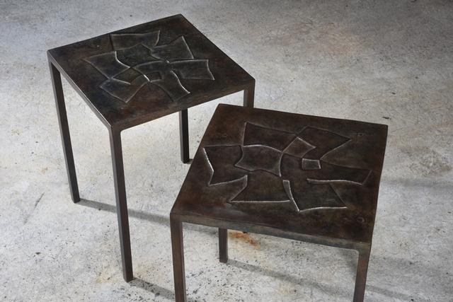 ", '""Recto/ Verso"" pair of coffee tables,' 1970, Magen H Gallery"