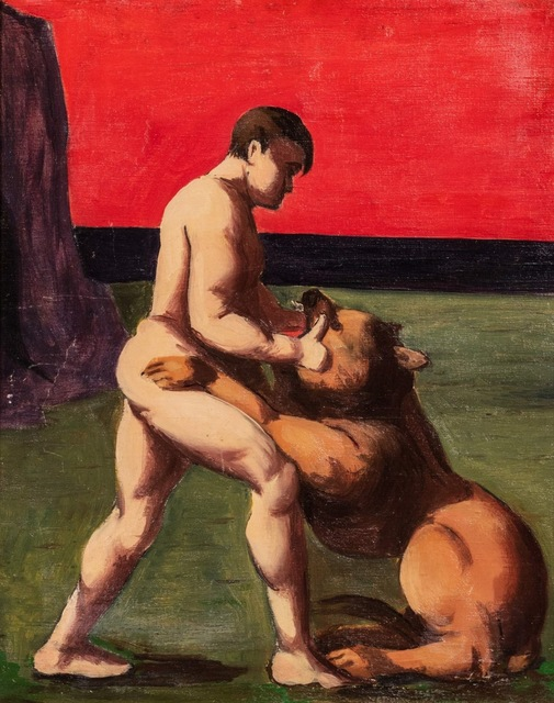 Pompeo Borra, 'The fighter', 1935, Painting, Oil on canvas, Finarte