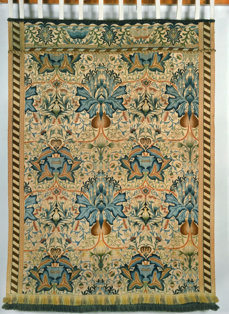 William Morris Artichoke Embroidered Wall Hanging 1877 1900 Artsy