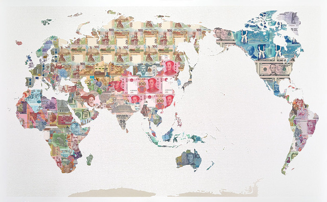 , 'Money Map of the World - China,' 2017, TAG Fine Arts
