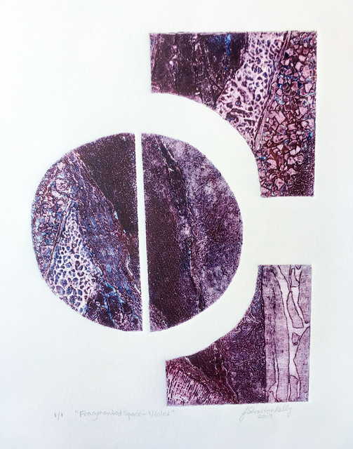 Jill Stratton Kelly, 'Fragmented Space-Violet', 2019, Open Bite Printmakers