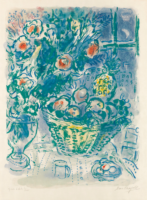 Marc Chagall, 'Corbeille de fruits et ananas (Basket of Fruit and Pineapples)', 1964, Print, Color Lithograph, Gallery de Sol