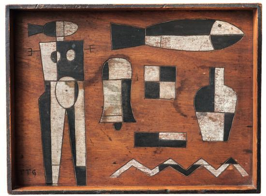 , 'Composition geometrique au personnage et poisson,' , Galería de las Misiones