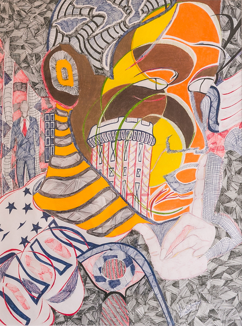 Dr. Zerric Clinton, 'President', 2018, Drawing, Collage or other Work on Paper, Pen & Ink on Bristol Board, The Art of Ligel, LLC
