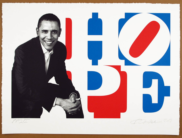 , 'Obama Portrait: Red, White, Blue,' 2009, Woodward Gallery