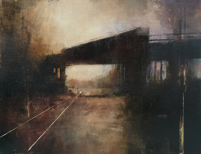 , 'January Bridge (Horizontal Study I),' 2018, West Branch Gallery