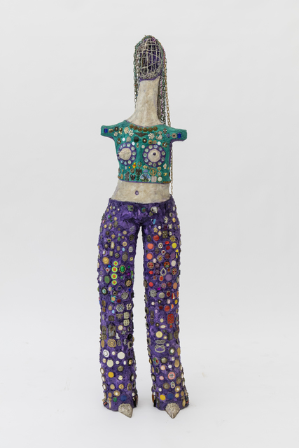 Timothy Washington, 'Glorifying Womanhood', ca. 2002, Sculpture, Mixed media including painted cotton, metal, metal chains, buttons, jewelry, clock faces, beads, and coins, Salon 94