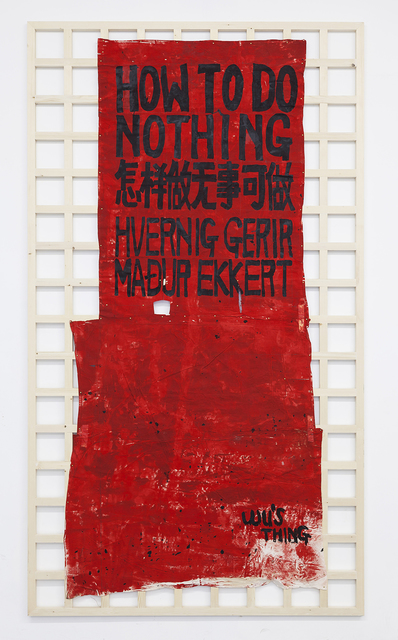 , 'How To Do Nothing,' 1990-1991, Long March Space