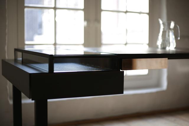 Carolina Wilcke, 'Baritone', 2014, Design/Decorative Art, Wood, bronze, stainless steel, glass,walnut wood, Priveekollektie Contemporary Art   Design