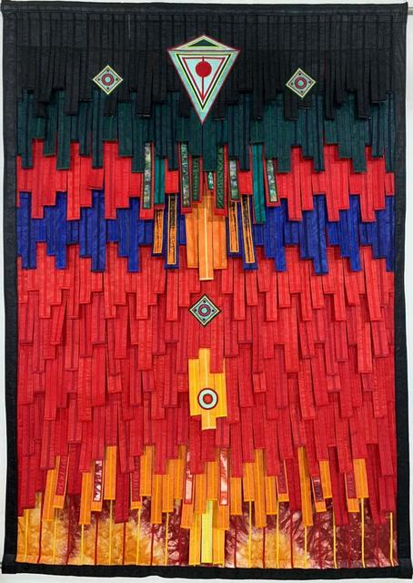 Abdoulaye Konaté, 'Composition en rouge touareg serie n.3', 2019, Primo Marella Gallery