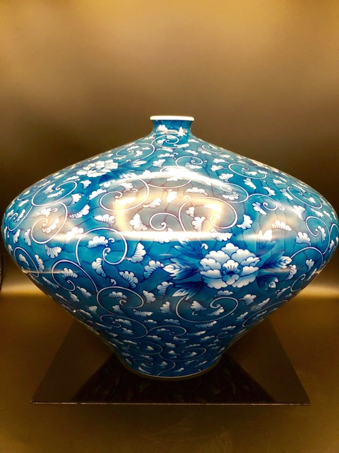 , 'Japanese Large Contemporary Peony Arita Porcelain Vase,' 21st. Century , Romang Antiques Gallery - Asian Art