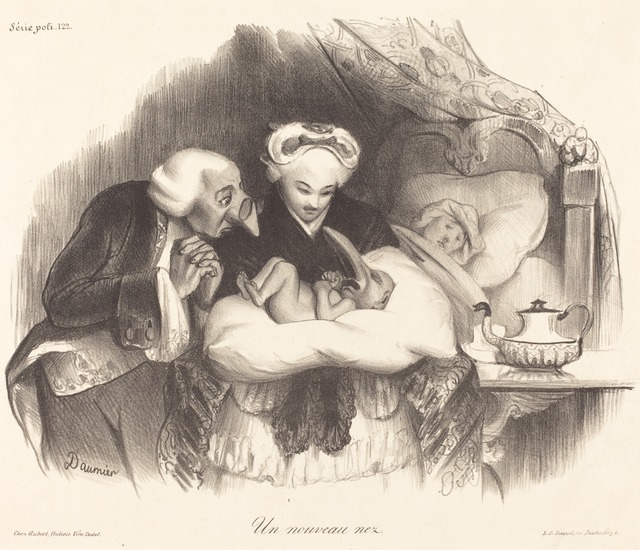 Honoré Daumier, 'Un nouveau nez', 1833, National Gallery of Art, Washington, D.C.