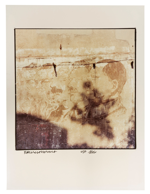 """Robert Rauschenberg, 'Profiles on Wall, (from """"Studies for Chinese Summerhall"""")', 1983, John Moran Auctioneers"""