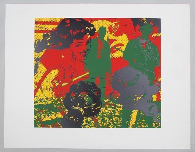 """Jerry Kearns, '""""Detente"""" Jerry Kearns Pop Art Silkscreen Screenprint', 1992, Lions Gallery"""