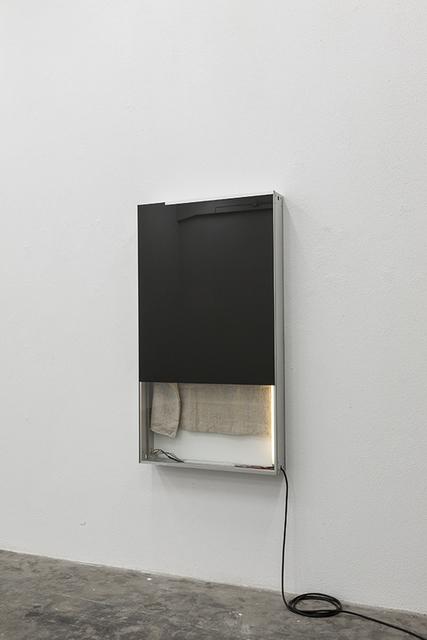 , 'Black painting with burlap salt bag,' 2015, Mai 36 Galerie