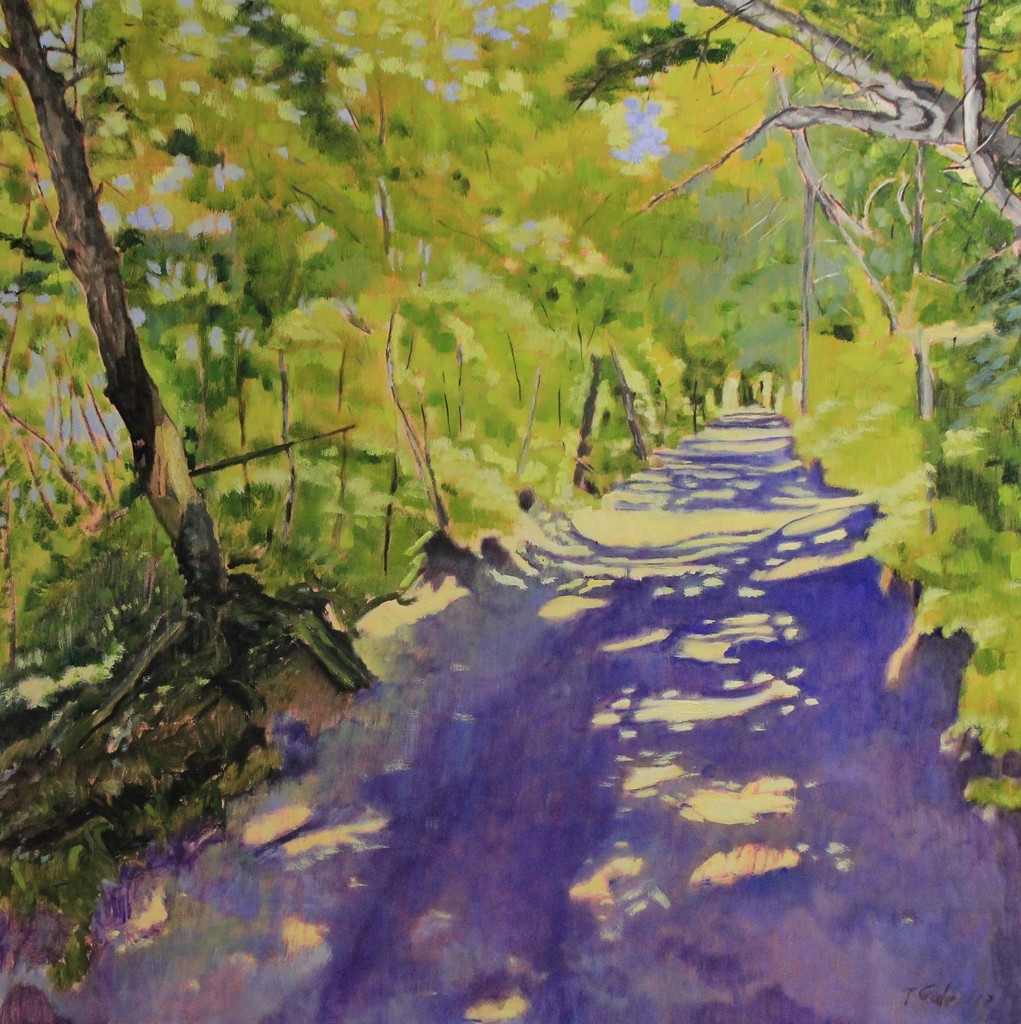 Tom Gale - Emily Murphy Park Trail - 36x36 - oil on canvas - 2017