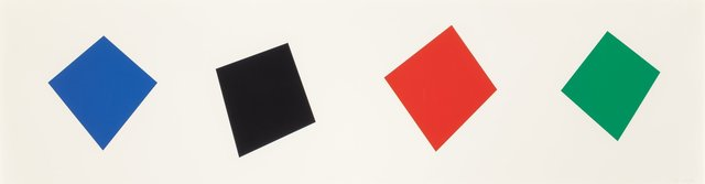 Ellsworth Kelly, 'Blue, Black, Red, Green', 2001, Heritage Auctions