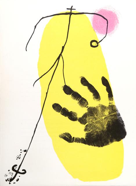 Joan Miró, 'Figura y Mano from Derrière le Miroir ', 1956, RoGallery