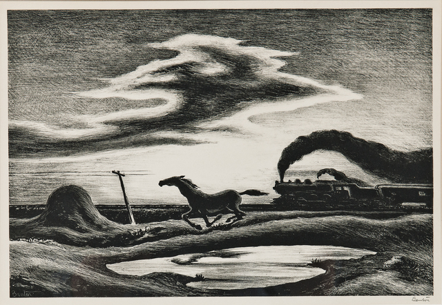 Thomas Hart Benton, 'The Race, alternatively titled Homeward Bound', 1942, Skinner
