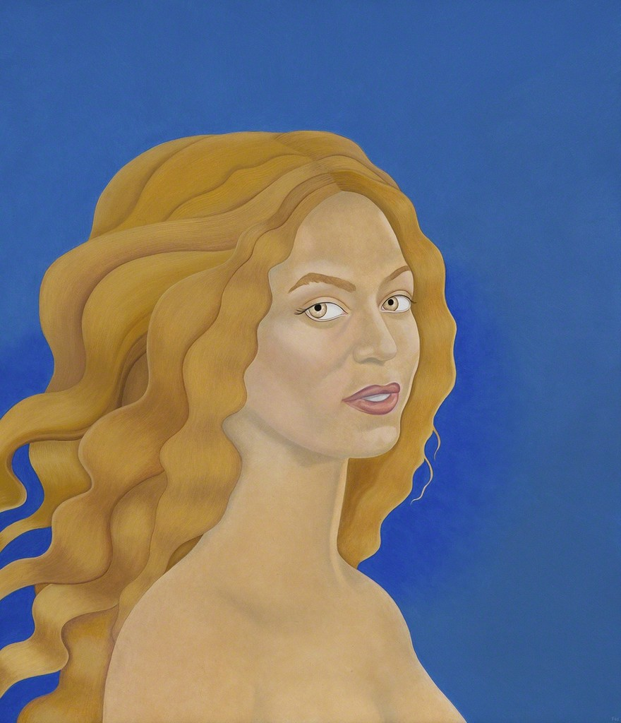Beyonce as Venus in Giotto Blue
