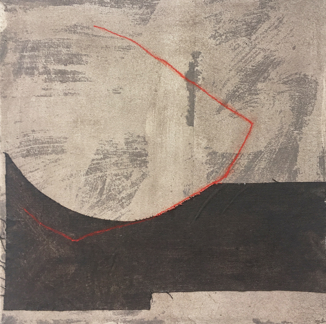 , 'Taupe with Red IX,' 2019, The Painting Center