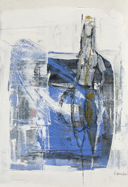 , 'Blue Figure II,' 2017, BoxHeart