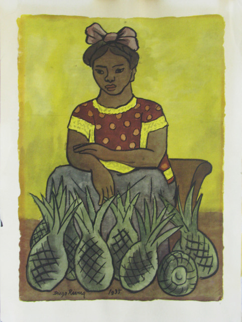 , 'Sin título (Mujer con piñas),' , Oscar Roman