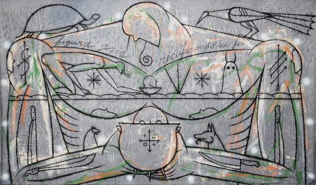 , 'Figura Gris Recuperando Su Fe,' 2012, Lyle O. Reitzel