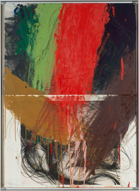 , 'Ringen unter Rot/Grün,' 1984/87, Galerie Elisabeth & Klaus Thoman