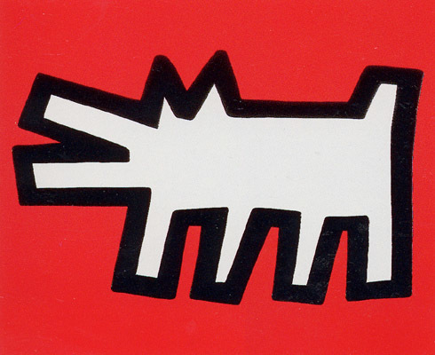 Keith Haring, 'Icons (B) - Barking Dog', 1990, Print, Silkscreen with embossing, Hamilton-Selway Fine Art Gallery Auction