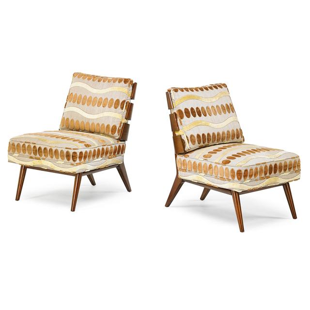 T.H. Robsjohn-Gibbings, 'Pair Of Lounge Chairs, Grand Rapids, MI', 1950s, Rago/Wright