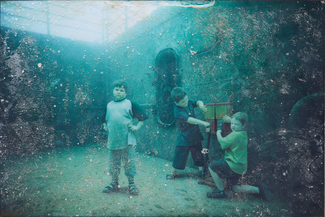 Andreas Franke, 'The Svenson Brothers (The Sinking World–Vandenberg Project)', 2011, Mixed Media, Photographic print mounted on dibond behind acrylic with ocean patina, Rosenbaum Contemporary