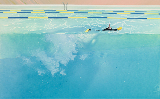 , 'Swimming pool series-floating in a swimming pool with sunshine reflection,' 2013, Aki Gallery