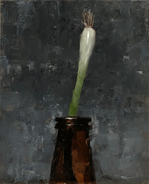 Tom Giesler, 'Floral 18: scallion', 2020, Painting, Oil on panel, McVarish Gallery