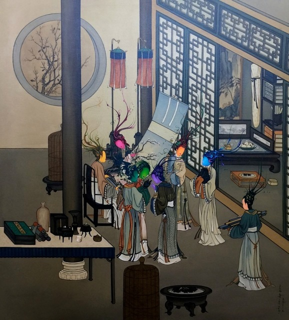 , 'Ancient Organisms Series- Painting of Court Ladies I,' , Yang Gallery