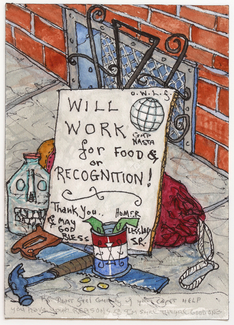 , 'Will Work for Food,' 1999, Hosfelt Gallery