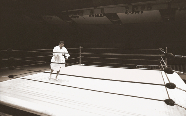 , ' Muhammad Ali, Shadowboxing (Madison Square Garden, NYC),' ca. 1977, Richard Beavers Gallery