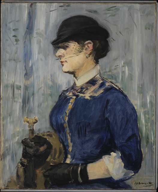 , 'Young Woman in a Round Hat,' ca. 1877, Princeton University Art Museum