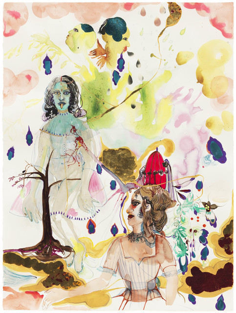 , 'Bad girls: not an observation of nature but perhaps a predisposition or behavior was governed by certain divisions of labor. Kali like creatures and cannibal like features adapted her to Punch and Jude theater when married to a mystery mister.,' 2012, Galerie Nathalie Obadia