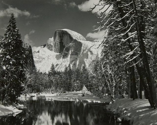 , 'Half Dome, Merced River, Winter, Yosemie Valley,' ca. 1938, Atlas Gallery